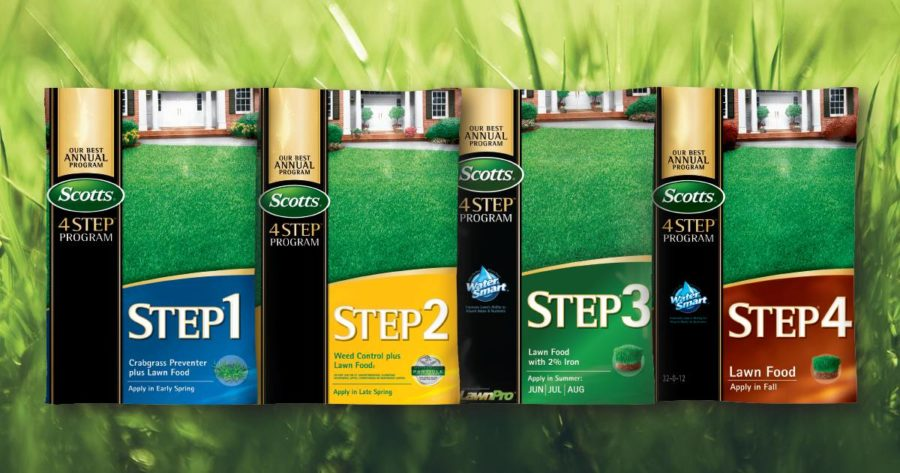 Treat your lawn to a four-course meal this season with the Scotts 4-Step lawn care program.