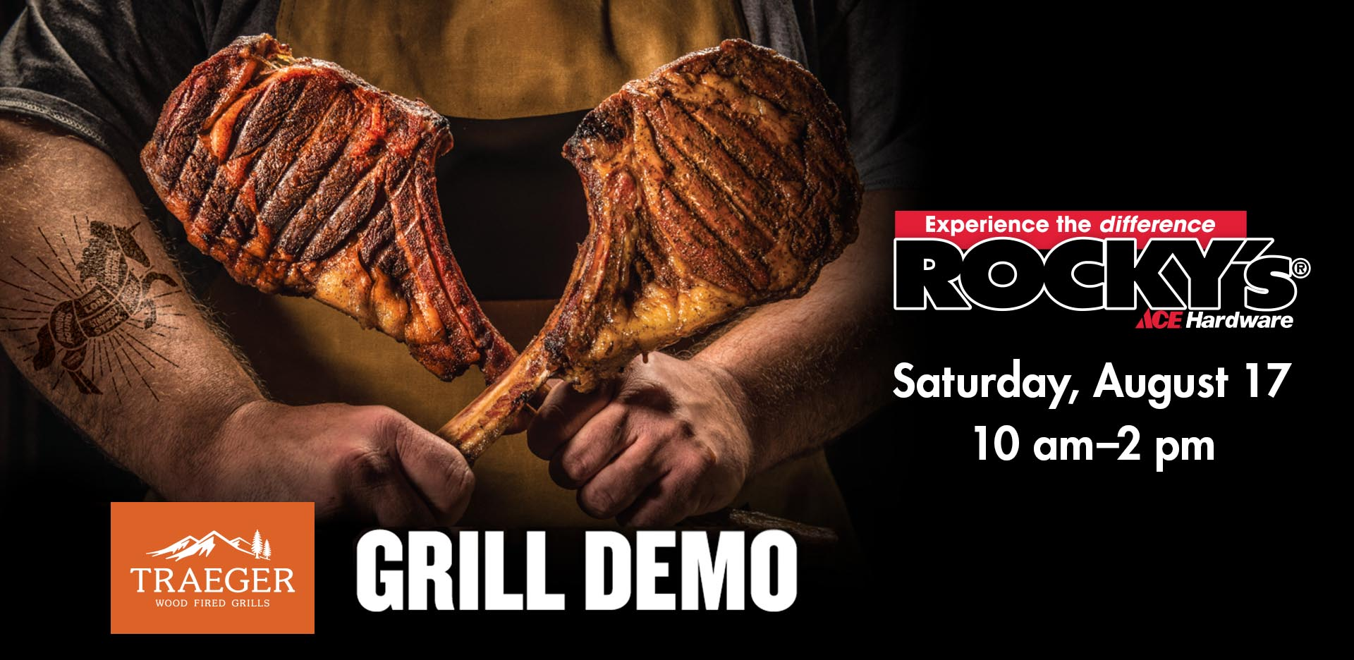 Trager Grill Demo at Rocky's Ace Hardware
