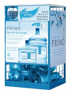 Rolling out nationally, Primo(TM) Water is the only national brand of purified, mineral-enhanced bottled water made especially for the home. Space-saving, family-sized 3- and 5-gallon bottles fit any cooler, are more economical than single-serve bottles, and come with easy-carry handles and no-spill seals. Primo's convenient do-it-yourself retail exchange is great for the environment and more practical than home delivery. Primo is the perfect solution for families that want to drink more water and live a healthier lifestyle. (PRNewsFoto/Primo Water Corporation)